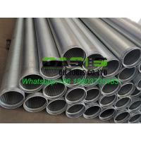 Quality OD 177.8 stainless steel drilling well water well sand sieve screens pipes for sale