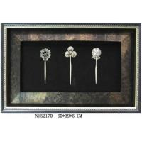 China Framed Wall Deco, Silver Hairpin on sale