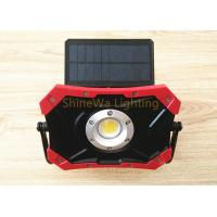 China Outside Solar Powered Construction Lights 10W Rechargeable Led Work Light on sale