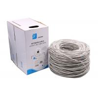 Quality 24AWG 0.5mm pass fluke Premium Solid UTP Cat5e Ethernet Cables grey 1000 Feet for sale