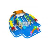 China Giant Inflatable Water Park , Commercial Jungle House Water Park For Kids on sale