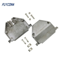 Quality ISO9001 Metal Backshell Zinc D Sub Cover For 37P D Sub Connector for sale