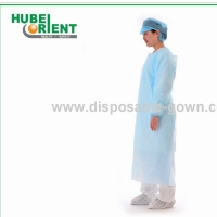 Quality Anti Bacterial CPE Disposable Gowns With Thumb Cuffs for sale