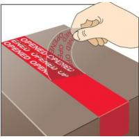 China Duct Wrapping Polyethylene 150mic Void Warranty Sticker on sale