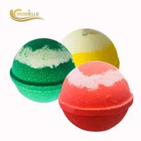 Quality Personalized 140g Large Custom Bath Bombs Sweet , Lemon , Rose Fragrance for sale
