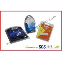 Quality Folded Cable Transparent Plastic Clamshell Packaging For USB With Paper Insert for sale