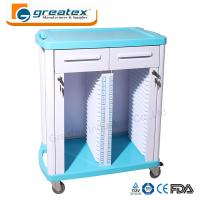 Quality Medical Equipment Medical Case History Trolley Double Rows and Single Row for sale