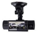 Quality Dual Lens car video camera recorder/night vision vehicle DVR/car black box X1000 for sale