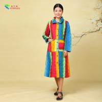 Quality Chinese Style Cotton Winter Clothing Women Cotton Padded Coat Rainbow Color for sale