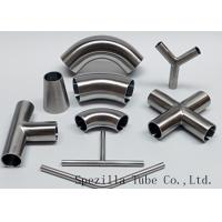 """Quality Equipment Usage Sanitary Valves And Fittings Stainless Steel Tee Welded End 1""""x1""""x1"""" for sale"""