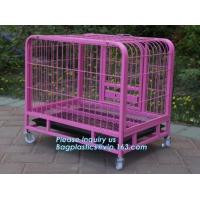 China customized portable stainless steel aluminum metal folding big dog cage, dog kennels cages large outdoor durable dog hou on sale