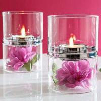 China Brilliant Arts and Crafts Glass Candle Holders for Christmas Decorations on sale