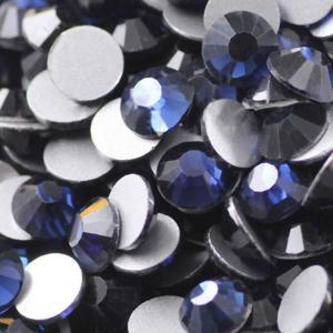 China Dark blue DMC hot fix rhinestone on sale