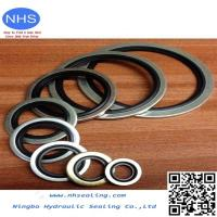 China PTFE/EPDM Bonded Seal/Customized Rubber Edge Seal Bonded to Metal on sale