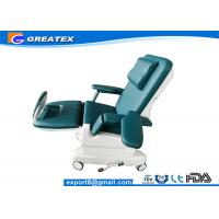 Quality Blue , Green , Gray Hospital Electric Dialysis / Transfusion Chair for infusion and rest for sale