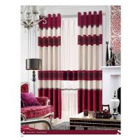 Quality Shrink-Resistant Polyester Luxury Ready Made Curtains , Ring And Splice for sale