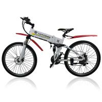 Quality 26 Inches Electric City Bike 250 Watt 36 V Lightweight Folding Hybrid Type for sale