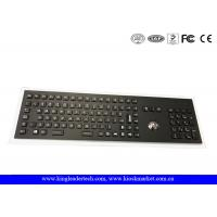 Quality Industrial Trackball And Backlight Electroplated Black Metal Keyboard With Full Keys for sale