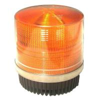 Quality Round Amber Warning LED Police Beacon Light Magnet Fixation for Emergency Vehicles for sale
