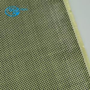 Quality carbon kevlar hybrid fabric, aramid carbon fiber fabric 2x2 plain for sale