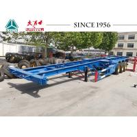 Quality 40FT 3 Axle Skeleton Chassis Trailer , Skeletal Container Trailer For Transportation for sale
