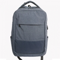 Quality Washable Polyester Business Laptop Backpack With USB for sale