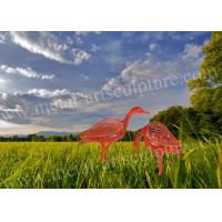China Hand Contemporary Metal Sculpture Ostrich Animal Shape As Outdoor Ornaments on sale