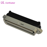 Quality Easy and Soft 50 Pin Centronic Solder Male Connector With Cable Clip Certificated UL for sale
