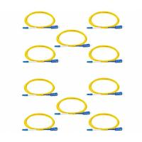 Buy cheap 2 Meters LC To SC Single Mode Fiber Patch Cables LSZH 9/125 Yellow Jacket from wholesalers