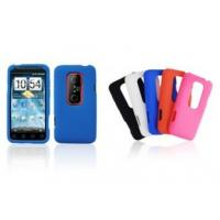 China Convenient Anti - scracthed custom Rubberized Cell Phone PC HTC EVO 3D Cases on sale