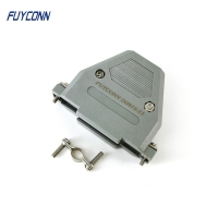 Quality 180 Degree Straight Plastic D Sub Hood For 37 Pin DB Connector for sale