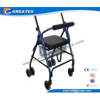Quality Aluminum 4 Wheel rolling walker with seat and Brakes for patient Rehabilitation for sale