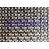 Quality 8 Mm Unique Bronze Decorative Wire Mesh Cabinet Insert Architectural Doors for sale