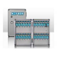 Quality Aluminum Secure Key Storage Cabinet With 24 Keys , Silver Key Boxes For The Home for sale
