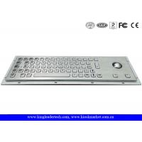 Quality Panel Mount Brushed Metal Industrial Keyboard With Trackball And 64 Keys for sale