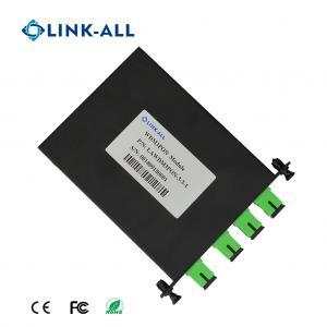 Quality 4 ports WDM module, WDM3PON, combine/split GPON/XGSPON/NGPON2 signals, low insertion loss, high isolation for sale