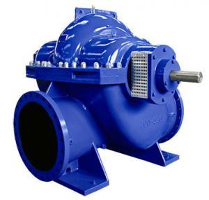 Quality Big Flow Double Suction Volute Pump , Horizontal Split Case Pump Electric / Diesel Motor for sale