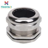 China Metallic IP65 Watertight Cable Gland / Electrical Cable Gland With Through Type on sale