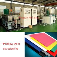 China LSJ120/33  1200-2300mm Hollow sheet extrusion line PP hollow sheet extrusion line on sale