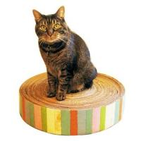 China Luxury Corrugated Cardboard Cat Scratcher Cat Sporting Toys / Ramp , Glossy Lamination on sale