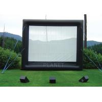 Quality Safety Inflatable Movie Screen Rental  / Inflatable TV Screen Reinforced Oxford Cloth for sale