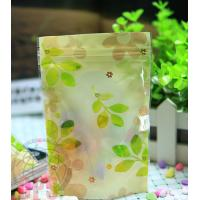 Quality Recycled 80 Micron Leaf Plastic Zipper Bags Resealable For Promotional for sale