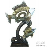 Quality Home Decorative Resin Fish Figurine (D24-71129-A) for sale