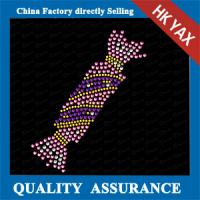 China 2015 new design wholesale christams rhinestone hot fix garment motif on sale