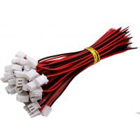Quality Custom Wire Harness Connectors JST XH 2.54mm 2 Pin Terminal Plug Extension Cable for sale