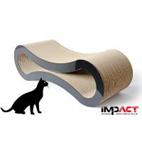 China 8 Shape Cardboard Cat Scratcher Furniture Recyclable Practice Strong Claws on sale