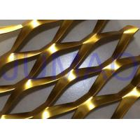 Quality 3D Anodized Expanded Aluminium Mesh, Gold Flattened Expanded Metal Screen Mesh for sale