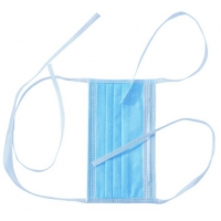 Quality Anti Dust 3 Ply Sterile Disposable Tie On Surgical Masks for sale
