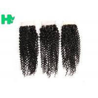 Buy cheap 8'' - 20''Unprocessed Human Hair Closure Kinky Curly Bleached Knots from wholesalers