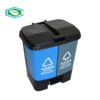 Buy cheap Double Barrel 26 Gallon Trash Can 120 Liter Classified Bins With Attached Lid from wholesalers